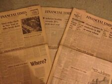 Financial Times Newspaper 1st 8th 15th 22nd February 1975