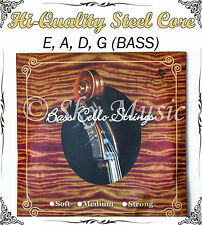 German Steel Core Nickel Alloy Wound Bass String Set 3/4 Size New High Quality