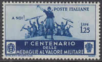 Italy Regno - 1934 - Medaglie al Valore - Sass. n.373 cv 150 MNH**