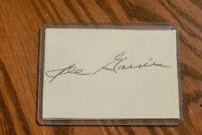 JOE GAINES, REDS, ORIOLES, ASTROS, BRAVES signed Cut Autograph
