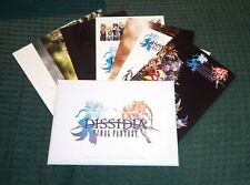 Final Fantasy Dissidia 8 promo postcards postales psp