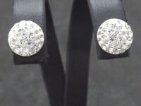 Ohrringe earrings 925 SILBER Sterling Silver boucle oreille Ohrstecker Zirkonia