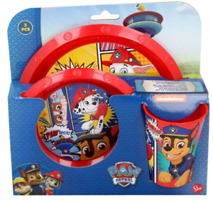 New 2019 Design Kids Character Breakfast Sets 3PC & 5PC Plate Tumbler and Bowl