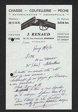 "EPERNAY (51) ARMES de CHASSE , COUTELLERIE & PECHE ""J. RENAUD"" en 1970"