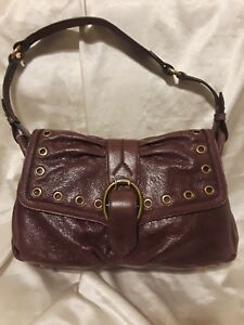 Aimee Kestenberg Lara Shoulder Buckled Bag Pebble Leather  Hobo mahogany nwt