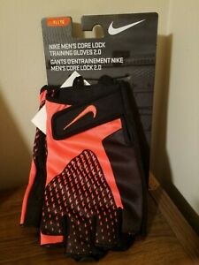 Nike Men's Core Lock Training Gloves 2.0 - Black Orange - X-Large XL