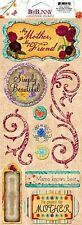 BoBunny AMBROSIA Collection CARDSTOCK STICKERS - MY MOTHER, MY FRIEND