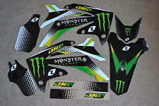 MONSTER  GRAPHICS & BLK  BACKGROUND HONDA CRF250R 10 11 12 & CRF450R 09 10 11 12