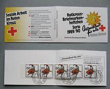 GERMANY BERLIN, booklet Red Cross CTO FDC 1989, postmen