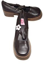 Union Bay POP IN Brown Faux Leather Chunky Stomper Punk Mary Janes Size 5 M NWOB
