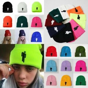 Billie Eilish Beanie Hot Topic Knit Hat Stretchy Cap Women Men Kids Knit Hat UK