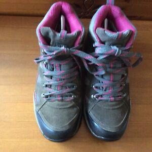 KARRIMOR MOUNT MID LADIES WALKING BOOTS GREY/PINK UK SIZE 7 WATERPROOF ...