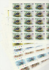 Barbuda 6395 - 1976 BIRDS set of 6 in COMPLETE SHEETS of 25 superb unmounted