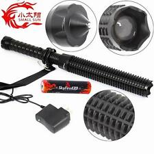 SMALL SUN Zoomable CREE LED Rechargeable Flashlight Self Defense Tactical Torch
