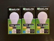 3 pack New 75 Watt Equivalent  A19 LED Light Bulb 11W Soft White 2700K
