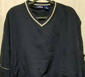 PGA Tour Mens Sz L Water Repellant Wind Shirt V-Neck Convertible Zip-Off Sleeve