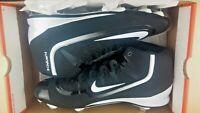 Nike Men's Size 14 Huarache 2kfilth Pro Mid Baseball Cleats Black White
