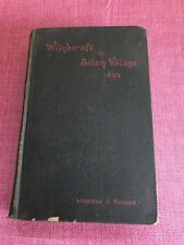 Witchcraft In Salem Village 1692 By Winfield S. Nevins 1892