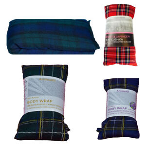 Tartan Wheat Heat Packs Body Wrap Lavender/Unscented Microwave Relief Pack 1 2 3