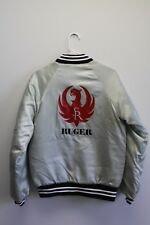 Vintage Ruger Firearms Satin Bomber Jacket Sz Small Made In USA 80s Unisex
