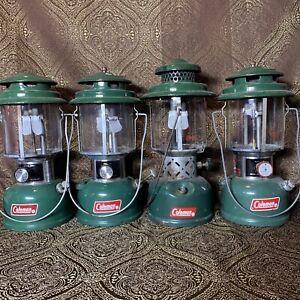 Vintage Coleman Lantern Lot Of 4 220 K J E H Good Condition Fixer Upper Complete