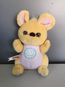 """Fisher Price Vintage 1998 Peaceful Planet Mouse Plush Rattle 7"""""""