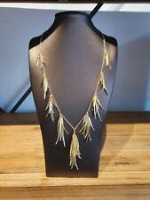 Collier Halskette 45+5 cm Messing Gelb Vergoldet Statement Designerschmuck