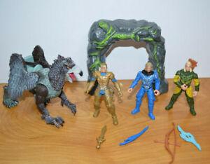 CHAP MEI TRUE LEGENDS GRIFFIN & ELVES Action Figure Lot Fantasy Arch Monsters