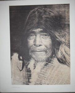 """Nootka Man  by Edward S. Curtis - Original 14 X 18"""" Photogravure"""