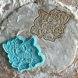 Siren cookie cutter. Fantastic bird with human face mythology cookie stamp