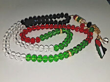Palestine Crystal Colour Prayer Beads - Approx 99 beads