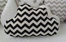 ⭐Black White Chevron Cloud Shape Cushion Pillow Decorative Nursery Kids Bedroom⭐