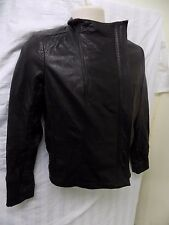 DKNY JEANS Women's Black Leather Jacket Size M