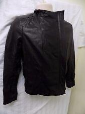 DKNY JEANS Women's Black Leather Jacket Size M