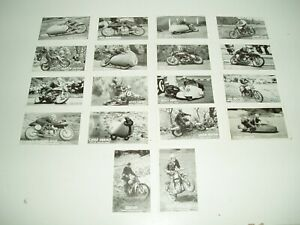 Rare Vintage Castrol Series of Famous Riders cards. 1956.