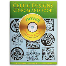 Dover Publications Celtic Designs Electronic Clip Art w. CD-ROM free ship