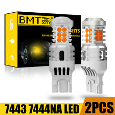 BMTxms 7443 7440 Anti-Hyper Flash LED Turn Signal Light Amber Yellow Error Free