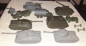 Vintage Airfix Attack Force Vehicle Lot 1/72 HO 1/76 Rare 1960s Trucks Tanks SPG