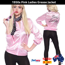 Pink Ladies Costume Jacket 50's 1950's Halloween Fancy Dress Party AUS