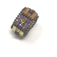 Vintage Ring Beaded Boho Stretch Costume Jewelry Retro