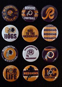 Washington Redskins - 1 1/2 Inch Buttons - Set of 12