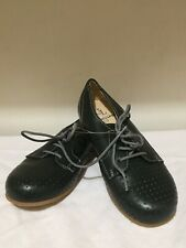 LUCCINI HUNTER GREEN LEATHER BOYS GIRLS UNISEX LACE SHOES NEW W/O BOX L@@K