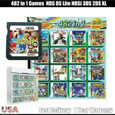 NEW NDS 482 in 1 Games Cartridge Mario Multicart for DS Lite NDSi 3DS 2DS XL US