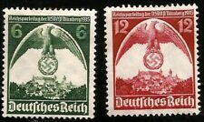1935 Nazi Germany Party Congress at Nuremberg Swastika Eagle Castle Mint Stamps