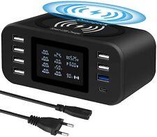 Station de Charge avec Chargeur Sans Fil Chargeur USB Multiples Affichage LED
