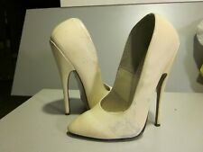 l.s.b.7 inch white patent leather pumps size 12