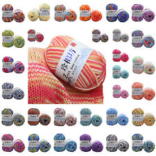 New 30 Colors Super Soft  Mixed Job  Cotton Baby Hand Knitting Crochet Yarn