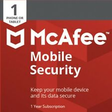 McAfee Mobile Security 2018 1YEAR 1SMARTPHONE/TABLETS ANDROID INTERNET SECURITY