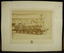 Photographie locomotive Jean-François Cail type 495 c1880 Courthéoux Steam Train
