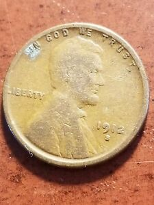 1912 S Lincoln Wheat Cent, tough early San Francisco      INV07     PL7150